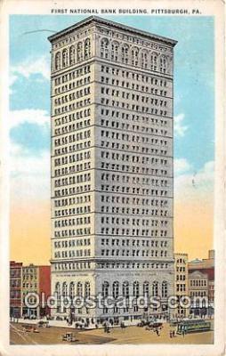 bnk001556 - First National Bank Building Pittsburgh, PA, USA Postcard Post Card