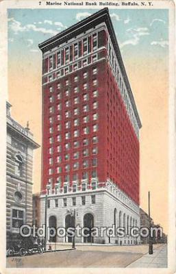 bnk001564 - Marine National Bank Building Buffalo, NY, USA Postcard Post Card