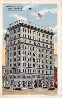 bnk001570 - Onondaga County Bank Building Syracuse, NY, USA Postcard Post Card