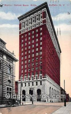 bnk001581 - Marine Nation Bank Building Buffalo, NY, USA Postcard Post Card
