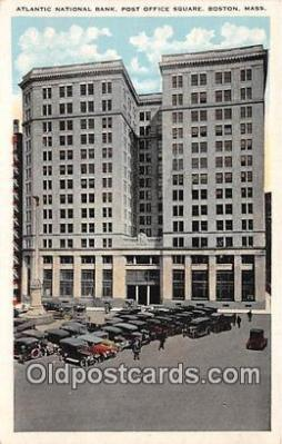 bnk001585 - Atlantic National Bank Boston, Mass, USA Postcard Post Card