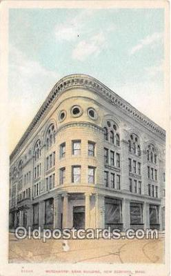 bnk001588 - Merchants Bank Building New Bedford, Mass, USA Postcard Post Card