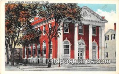 bnk001591 - First National Bank Brunswick, ME, USA Postcard Post Card