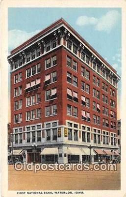 bnk001595 - First National Bank Waterloo, Iowa, USA Postcard Post Card