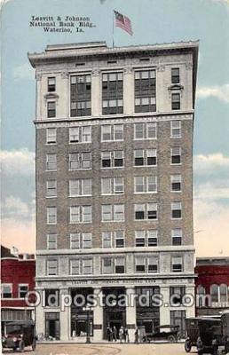 bnk001597 - Leavitt & Johnson National Bank Building Waterloo, Iowa, USA Postcard Post Card
