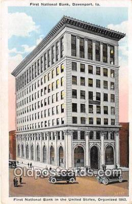bnk001600 - First National Bank Davenport, Iowa, USA Postcard Post Card