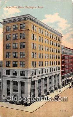 bnk001607 - Iowa State Bank Burlington, Iowa, USA Postcard Post Card