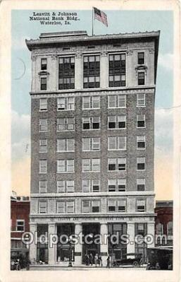 bnk001610 - Leavitt & Johnson National Bank Building Waterloo, Iowa, USA Postcard Post Card