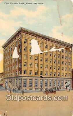 bnk001613 - First National Bank Mason City, Iowa, USA Postcard Post Card