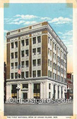 bnk001618 - First National Bank of Grand Island Grand Island, Neb, USA Postcard Post Card