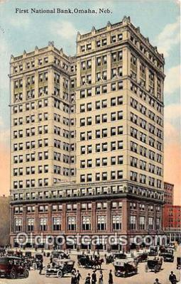 bnk001619 - First National Bank Omaha, Neb, USA Postcard Post Card