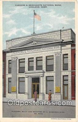 bnk001622 - Farmers & Merchants National Bank Oakland, Neb, USA Postcard Post Card