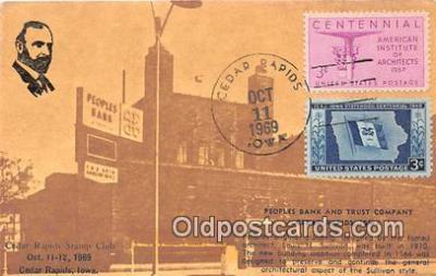 bnk001626 - Peoples Bank & Trust Company Cedar Rapids, Iowa, USA Postcard Post Card
