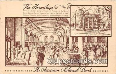 bnk001627 - The Hermitage, American National Bank Nashville, TN, USA Postcard Post Card