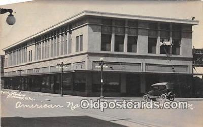 bnk001644 - Real Photo - American National Bank Roswell, NM, USA Postcard Post Card