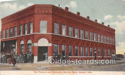 bnk001648 - Farmers & Merchants National Bank Hobart, Oklahoma, USA Postcard Post Card