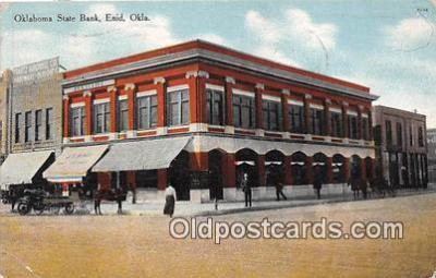bnk001650 - Oklahoma State Bank Enid, Oklahoma, USA Postcard Post Card