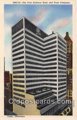 bnk001655 - First National Bank & Trust Company Tulsa, Oklahoma, USA Postcard Post Card