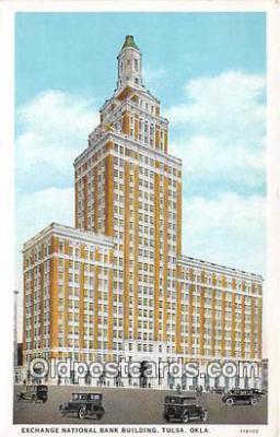 bnk001658 - Exchange National Bank Building Tulsa, Oklahoma, USA Postcard Post Card