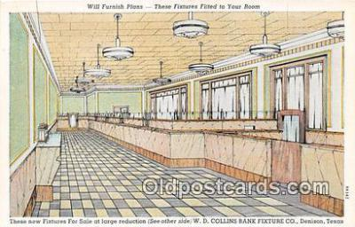 bnk001660 - WD Collins Bank Fixture Co Denison, Texas Postcard Post Card