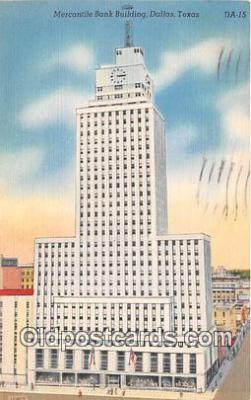 bnk001666 - Mercantile Bank Building Dallas, Texas, USA Postcard Post Card