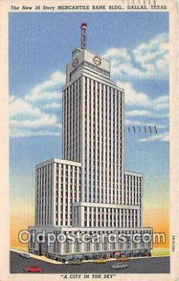 bnk001668 - Mercantile Bank Building Dallas, Texas, USA Postcard Post Card