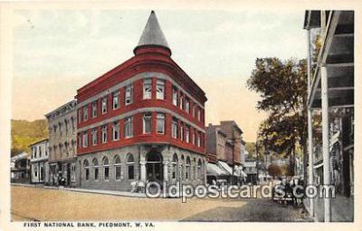 bnk001671 - First National Bank Piedmont, W VA, USA Postcard Post Card