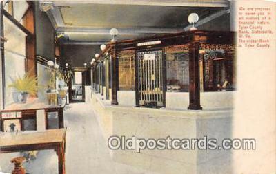 bnk001672 - Tyler County Bank Sistersville, W VA, USA Postcard Post Card