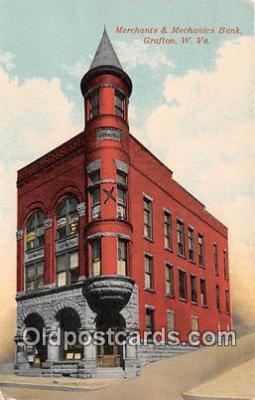 bnk001674 - Merchants & Mechanics Bank Grafton, W VA, USA Postcard Post Card