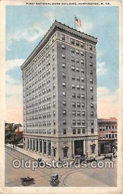 bnk001675 - First National Bank Building Huntington, W VA, USA Postcard Post Card