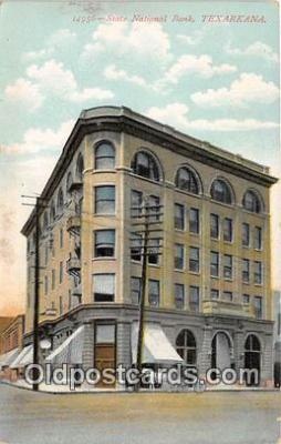 bnk001677 - State National Bank Texarkana, USA Postcard Post Card