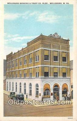 bnk001679 - Wellsburg Banking & Trust CO Building Wellsburg, W VA, USA Postcard Post Card