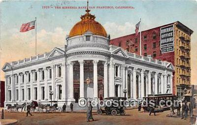 bnk001681 - Hibernia Bank San Francisco, CA, USA Postcard Post Card