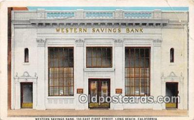 bnk001683 - Western Savings Bank Long Beach, California, USA Postcard Post Card