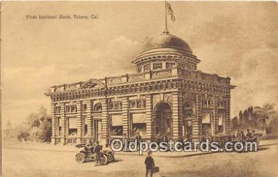 bnk001687 - First National Bank Tulare, CA, USA Postcard Post Card