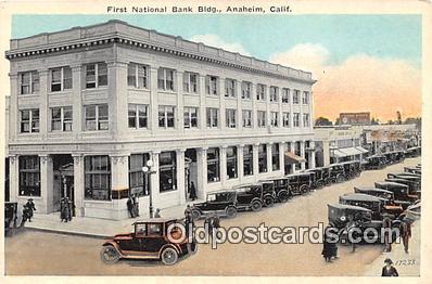 bnk001689 - First National Bank Building Anaheim, CA, USA Postcard Post Card