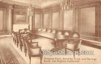 bnk001692 - Directors Room, Security Trust & Savings Bank Los Angeles, California, USA Postcard Post Card