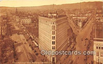 bnk001693 - First National Bank Building Oakland, CA, USA Postcard Post Card