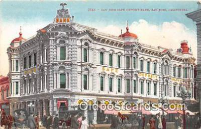 bnk001696 - San Jose Safe Deposit Bank San Jose, CA, USA Postcard Post Card