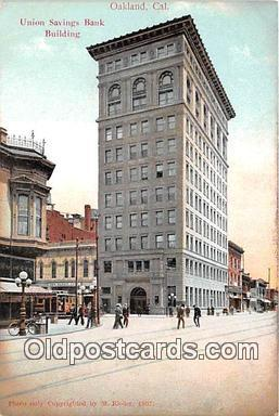 bnk001720 - Union Savings Bank Building Oakland, CA, USA Postcard Post Card