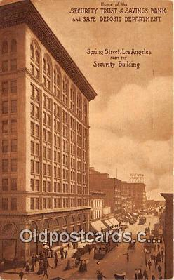 bnk001721 - Security Trust & Savings Bank Los Angeles, California, USA Postcard Post Card