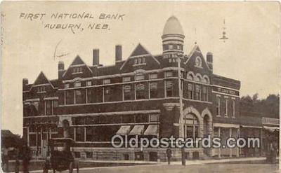 bnk001725 - First National Bank Auburn, Neb, USA Postcard Post Card