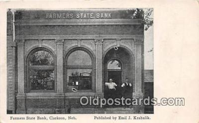 bnk001729 - Farmers State Bank Clarkson, Nebraska, USA Postcard Post Card