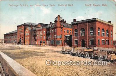 bnk001732 - Exchange Building, Union Stock Yards South Omaha, Nebraska, USA Postcard Post Card
