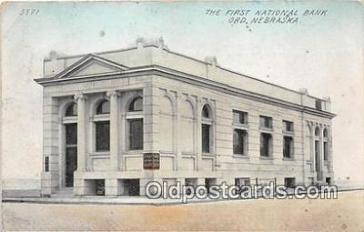 bnk001733 - First National Bank Ord, Neb, USA Postcard Post Card