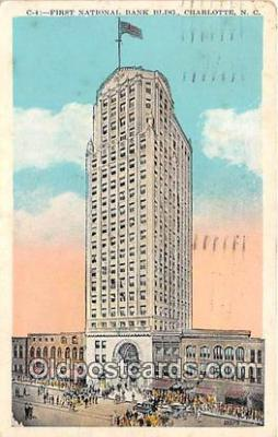 bnk001741 - First National Bank Building Charlotte, NC, USA Postcard Post Card