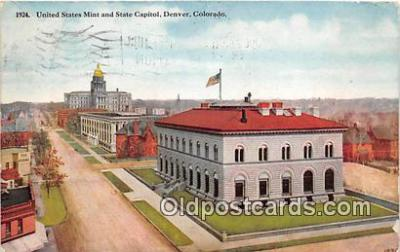 bnk001742 - United States Mint & State Capitol Denver, Colorado, USA Postcard Post Card