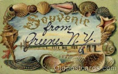bor001048 - Greene, NY, New York, USA Shells, Shell Border, Postcard Post Card