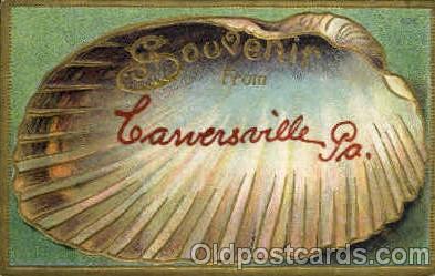 bor001049 - PA, Pennsylvania, USA Shells, Shell Border, Postcard Post Card