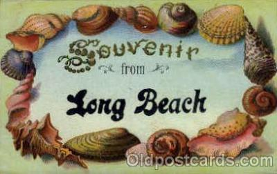 bor001060 - Long Beach, CA, California, USA Shells, Shell Border, Postcard Post Card